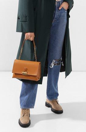 Женская сумка soft OFF-WHITE темно-бежевого цвета, арт. 0WNA120S20LEA0016000 | Фото 2