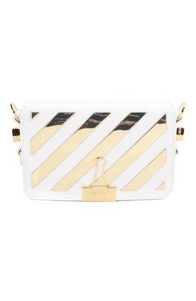 Женская сумка flap OFF-WHITE белого цвета, арт. 0WNA038S20LEA0030176 | Фото 1