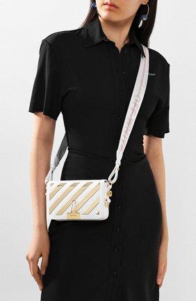 Женская сумка flap OFF-WHITE белого цвета, арт. 0WNA038S20LEA0030176 | Фото 2