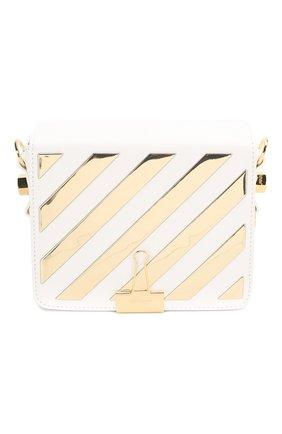 Женская сумка flap OFF-WHITE белого цвета, арт. 0WNA011S20LEA0030176 | Фото 1