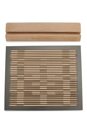 Мужского настольная игра шанхай BRUNELLO CUCINELLI коричневого цвета, арт. MLW0GAM716 | Фото 1