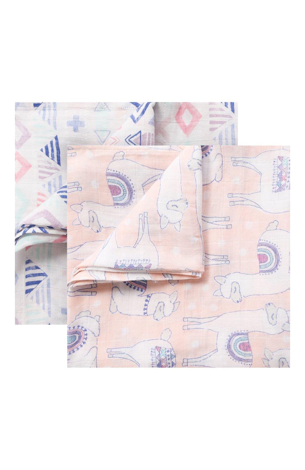 Детского комплект из двух пеленок ADEN+ANAIS разноцветного цвета, арт. 4044   Фото 1
