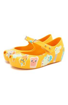 Детские туфли MELISSA желтого цвета, арт. 32756 | Фото 1