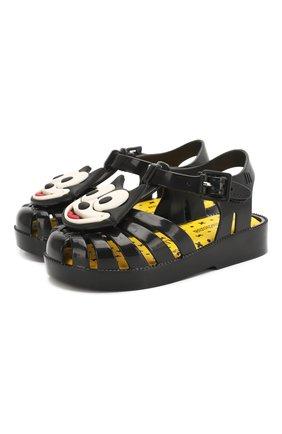 Детские сандалии MELISSA черного цвета, арт. 32675 | Фото 1