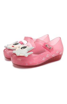 Детские туфли MELISSA розового цвета, арт. 32770 | Фото 1