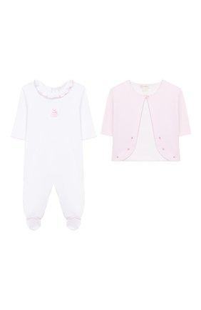 Детский комплект из комбинезона и кардигана KISSY KISSY розового цвета, арт. KGQ04452N | Фото 1