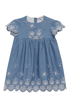 Женский хлопковое платье TARTINE ET CHOCOLAT синего цвета, арт. TQ30131/4A-5A | Фото 1