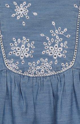 Женская хлопковое платье TARTINE ET CHOCOLAT синего цвета, арт. TQ30131/4A-5A | Фото 3