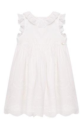 Женский хлопковое платье TARTINE ET CHOCOLAT белого цвета, арт. TQ30111/4A-5A | Фото 1