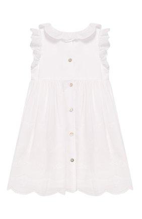 Женский хлопковое платье TARTINE ET CHOCOLAT белого цвета, арт. TQ30111/4A-5A | Фото 2