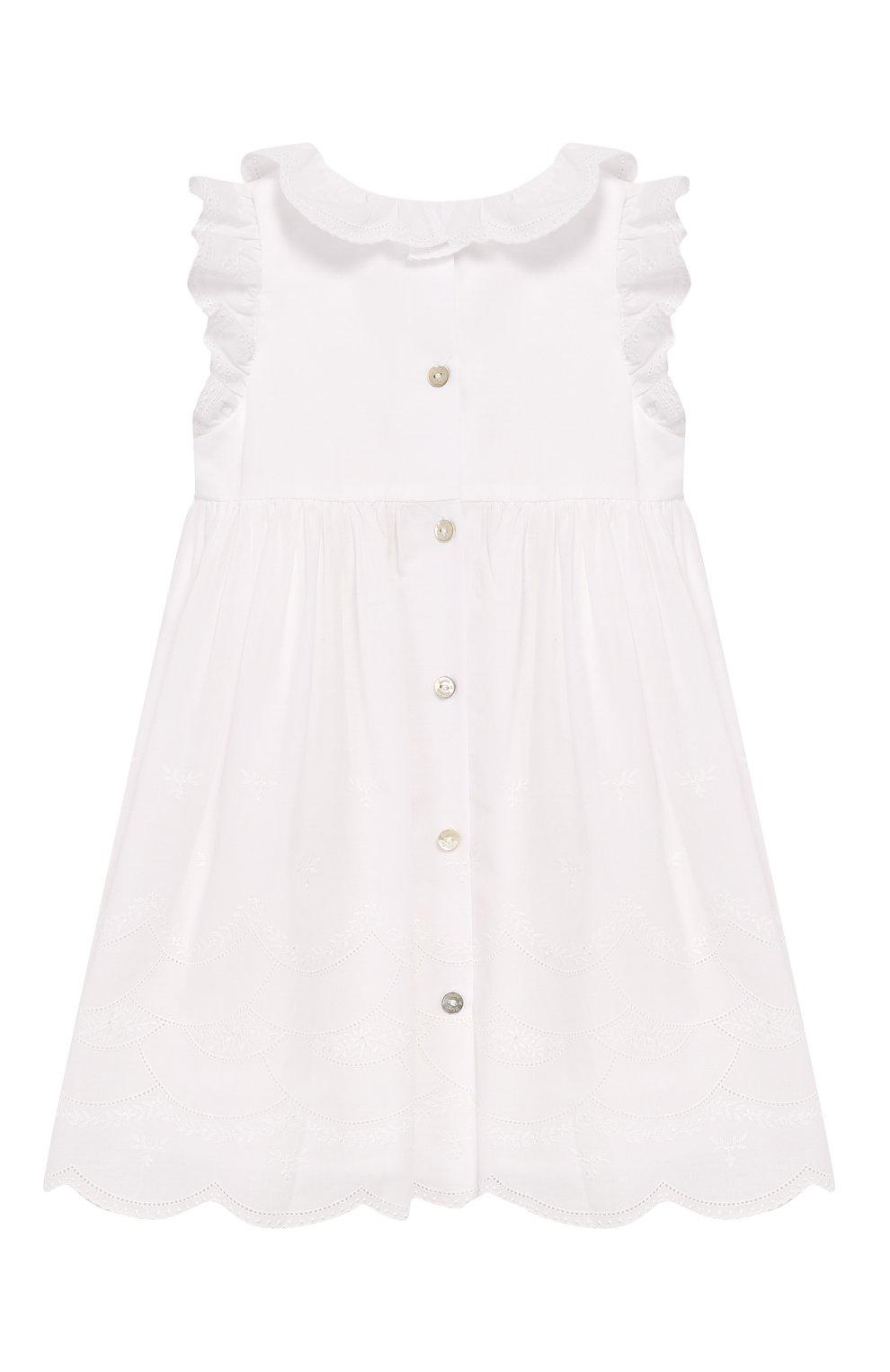 Женский хлопковое платье TARTINE ET CHOCOLAT белого цвета, арт. TQ30111/18M-3A | Фото 2
