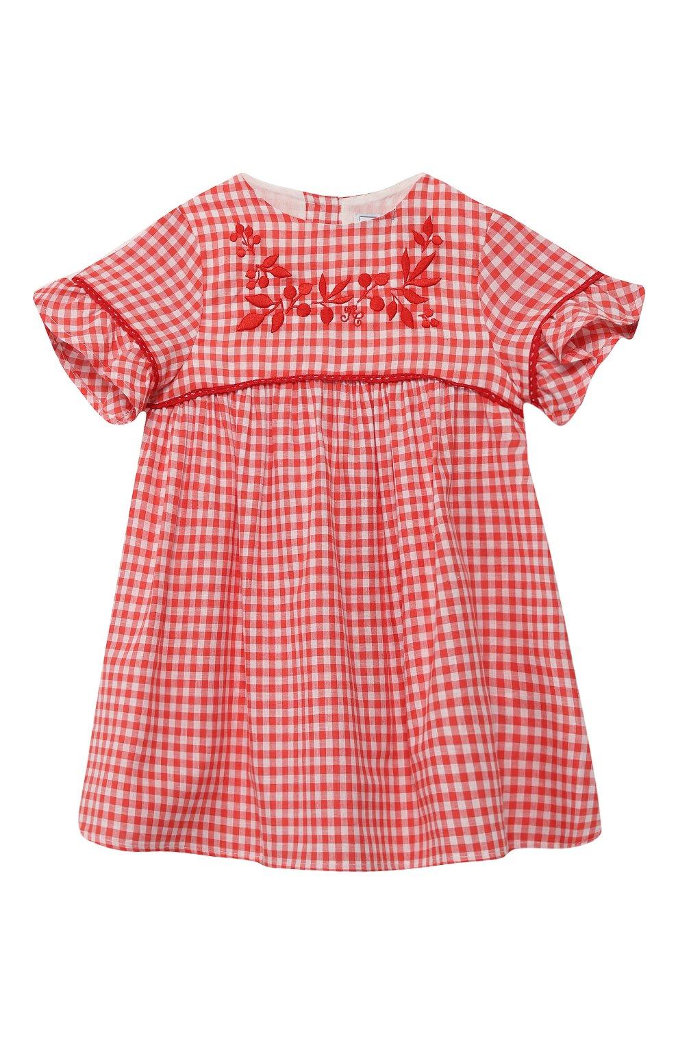Женский хлопковое платье TARTINE ET CHOCOLAT кораллового цвета, арт. TQ30061/4A-5A | Фото 1