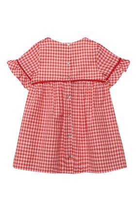 Женский хлопковое платье TARTINE ET CHOCOLAT кораллового цвета, арт. TQ30061/4A-5A | Фото 2