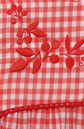 Женский хлопковое платье TARTINE ET CHOCOLAT кораллового цвета, арт. TQ30061/4A-5A | Фото 3