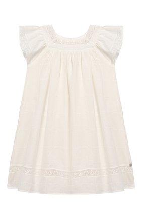 Женский хлопковое платье TARTINE ET CHOCOLAT бежевого цвета, арт. TQ30031/4A-5A | Фото 1