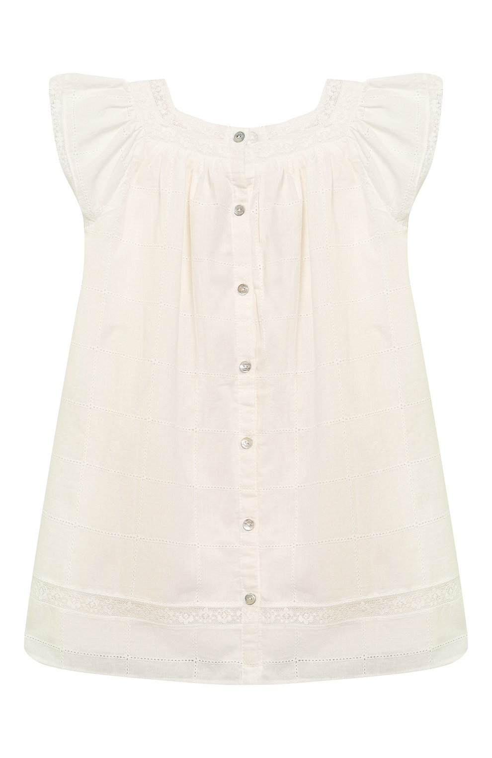 Женская хлопковое платье TARTINE ET CHOCOLAT бежевого цвета, арт. TQ30031/4A-5A | Фото 2