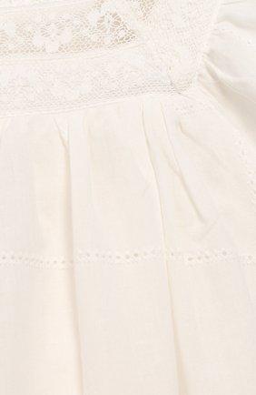 Женская хлопковое платье TARTINE ET CHOCOLAT бежевого цвета, арт. TQ30031/4A-5A | Фото 3