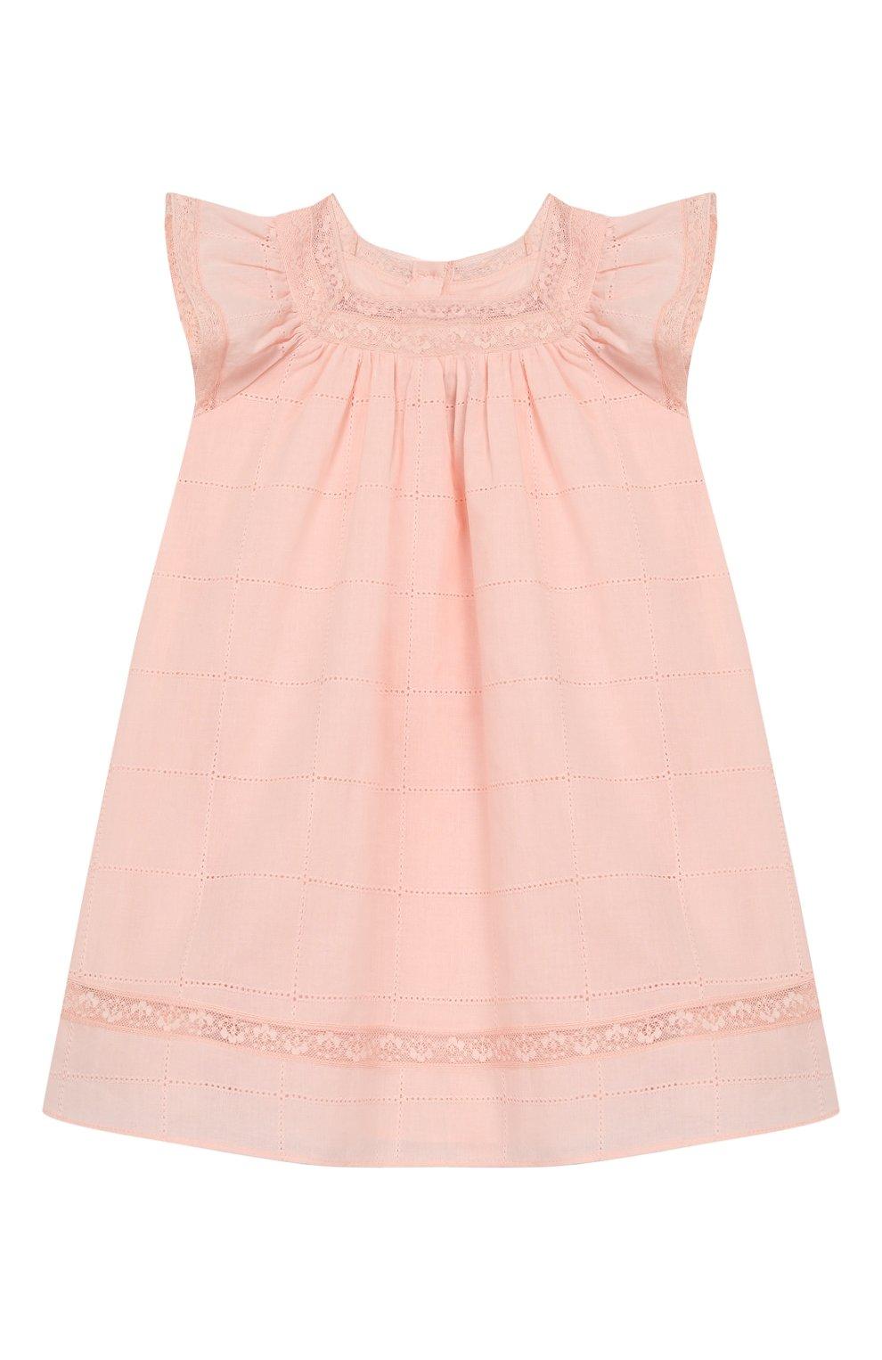 Женский хлопковое платье TARTINE ET CHOCOLAT светло-розового цвета, арт. TQ30031/4A-5A   Фото 1