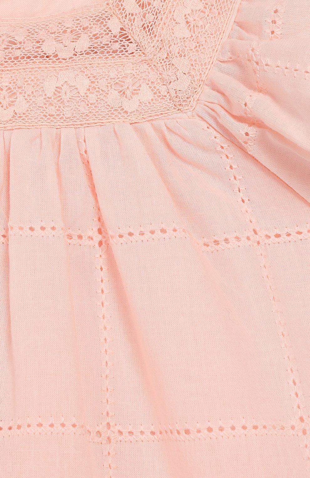 Женский хлопковое платье TARTINE ET CHOCOLAT светло-розового цвета, арт. TQ30031/4A-5A   Фото 3