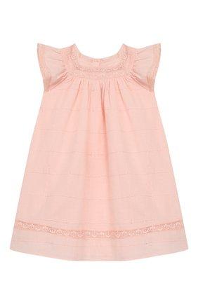 Женский хлопковое платье TARTINE ET CHOCOLAT светло-розового цвета, арт. TQ30031/18M-3A | Фото 1