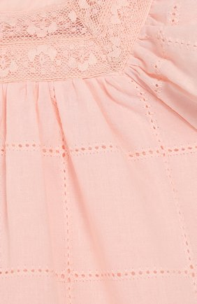 Женский хлопковое платье TARTINE ET CHOCOLAT светло-розового цвета, арт. TQ30031/18M-3A | Фото 3