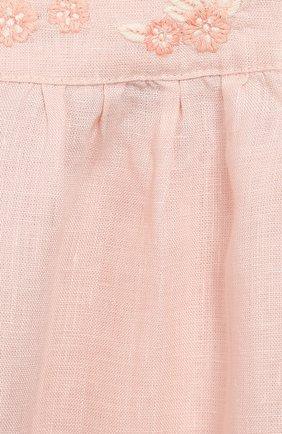 Женский льняное платье TARTINE ET CHOCOLAT светло-розового цвета, арт. TQ30001/18M-3A | Фото 3