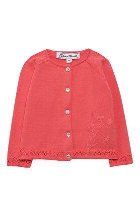 Детский хлопковый кардиган TARTINE ET CHOCOLAT розового цвета, арт. TQ18101/1M-1A | Фото 1