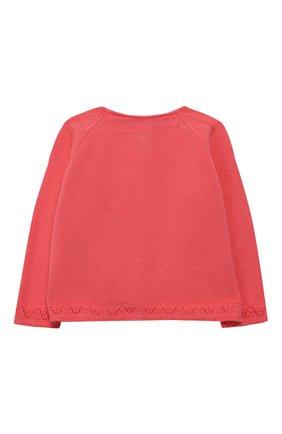 Детский хлопковый кардиган TARTINE ET CHOCOLAT розового цвета, арт. TQ18101/1M-1A | Фото 2