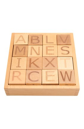 Детского набор кубиков с алфавитом KID`S CONCEPT бежевого цвета, арт. 412775 | Фото 1