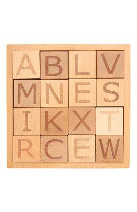 Детского набор кубиков с алфавитом KID`S CONCEPT бежевого цвета, арт. 412775 | Фото 2