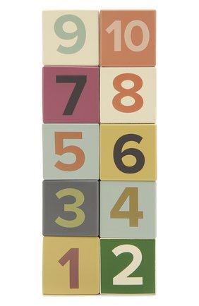 Детского набор кубиков с цифрами KID`S CONCEPT разноцветного цвета, арт. 1000467 | Фото 1