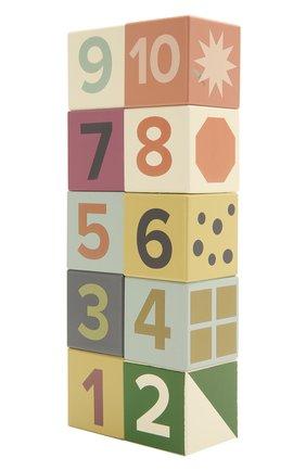Детского набор кубиков с цифрами KID`S CONCEPT разноцветного цвета, арт. 1000467 | Фото 2