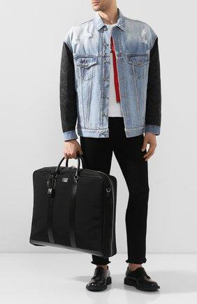 Мужская текстильная дорожная сумка SAINT LAURENT черного цвета, арт. 609259/KJX5E | Фото 2