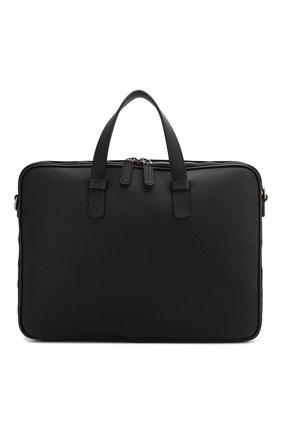 Мужской кожаный портфель GIORGIO ARMANI черного цвета, арт. Y2P251/YDZ1J   Фото 1