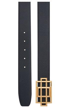 Мужской кожаный ремень ZILLI темно-синего цвета, арт. MJL-CLAQD-01805/0218/120-130 | Фото 2