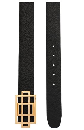 Мужской кожаный ремень ZILLI черного цвета, арт. MJL-CLAQD-01805/0218/120-130 | Фото 2