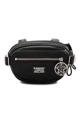 Мужская текстильная нагрудная сумка BURBERRY черного цвета, арт. 8028242 | Фото 1