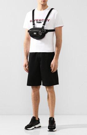 Мужская текстильная нагрудная сумка BURBERRY черного цвета, арт. 8028242 | Фото 2