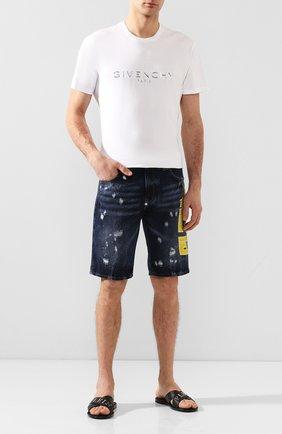 Мужские кожаные шлепанцы PHILIPP PLEIN черного цвета, арт. P20S MSA0113 PLE035N | Фото 2