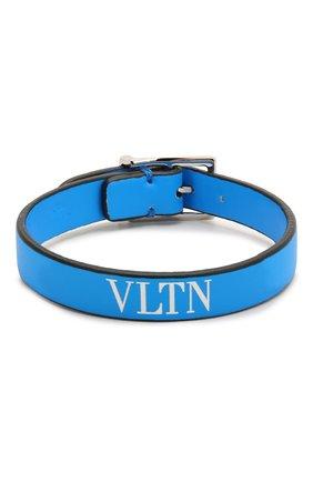 Мужской кожаный браслет valentino garavani VALENTINO синего цвета, арт. TY0J0M65/CFW | Фото 1