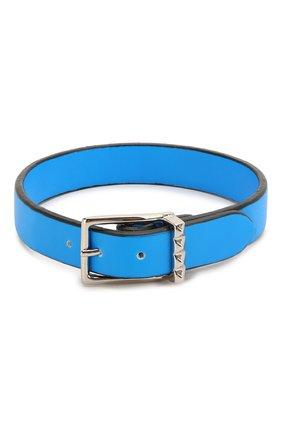 Мужской кожаный браслет valentino garavani VALENTINO синего цвета, арт. TY0J0M65/CFW | Фото 2