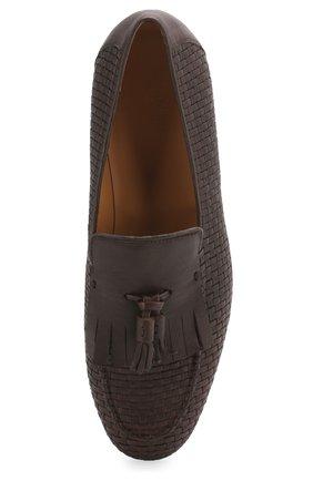 Мужские кожаные лоферы GIORGIO ARMANI коричневого цвета, арт. X2A372/XM419 | Фото 5
