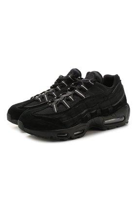 Мужские комбинированные кроссовки comme des garcons x nike air max 95 NIKELAB черного цвета, арт. PE-K101-002 | Фото 1