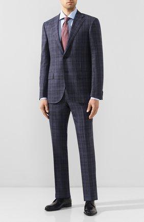 Мужской костюм из смеси шерсти и шелка CORNELIANI темно-синего цвета, арт. 857268-0117203/92 | Фото 1