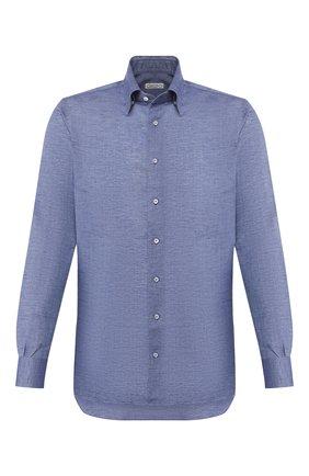 Мужская льняная рубашка ZILLI синего цвета, арт. MFT-MERCU-13091/RZ01 | Фото 1