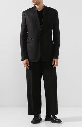 Мужской брюки JACQUEMUS черного цвета, арт. 205PA01/12990 | Фото 2