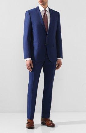 Мужской шерстяной костюм BOSS синего цвета, арт. 50433002 | Фото 1