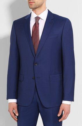 Мужской шерстяной костюм BOSS синего цвета, арт. 50433002 | Фото 2