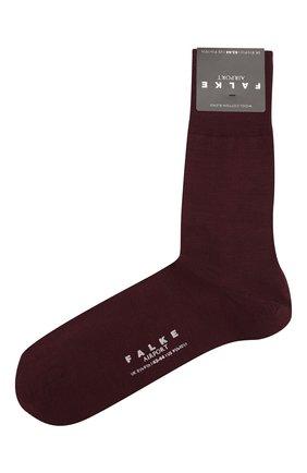 Мужские носки из смеси шерсти и хлопка FALKE бордового цвета, арт. 14435.. | Фото 1