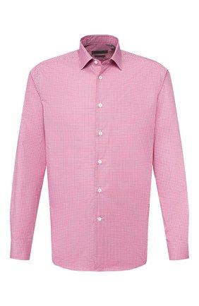 Мужская хлопковая сорочка CORNELIANI красного цвета, арт. 85P010-0111382/00 | Фото 1